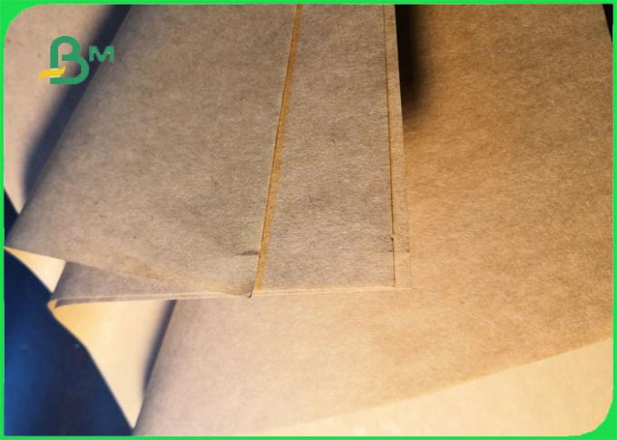 40GSM 50GSM Eco-friendly Food Grade Brown Paper Roll For Street Food Market