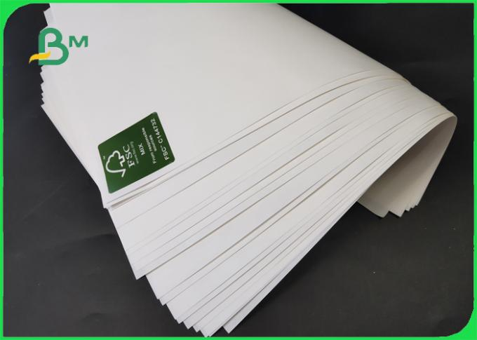 35 / 40GSM Food Grade MG MF White Kraft Paper Rolls FDA For Packaging Hamburger