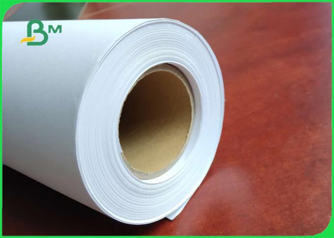 40GSM - 100GSM White Color Plotter Paper / CAD Paper In Rolls For Drawing Board