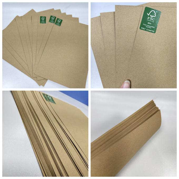 FSC & EU Unbleached Kraft Liner Board 100g to 400g Size 80 * 90cm For Packing