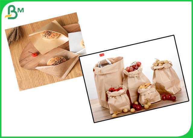 100% Safe And Degradable Brown Kraft Paper With PE Coated For Paper Bags